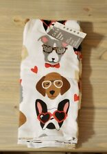 New Caba Valentine french bulldog and other dogs Kitchen Towel set.