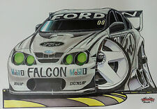 Cartoon Craig Lowndes Green Eyed Monster (Front) A3 Poster Print Picture Image