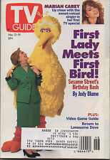 1993 TV GUIDE First Lady (Hillary Clinton) Meets First Bird! Nov 13-19