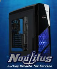 ROSEWILL NAUTILUS Gaming ATX Mid Tower Computer Case Side window w/ 3 120mm Fan
