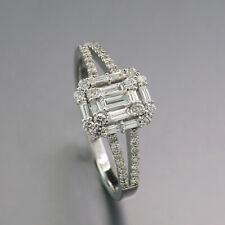 Diamond Ring Total 0,50 CT 750 White Gold 2200 Euro New