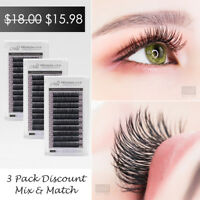 [3 Pack] Mia Synthetic Faux Mink Individual Eyelash Extension Semi Permanent