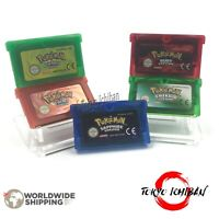 Pokemon Game boy Advance GBA SP DS Lite Emerald RedFire Sapphire Ruby Green Leaf