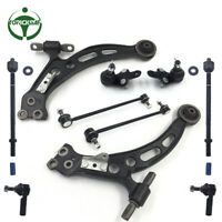 10pc Suspension Kit Front Lower Control Arms Tierod For 1997 - 2001 Toyota Camry