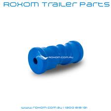 """Boat Trailer Keel Roller 6"""" Self Centre Blue Plastic Self Centering Boat Roller"""