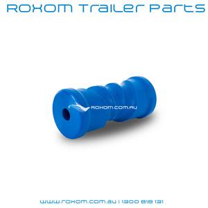 "Boat Trailer Roller 6"" Self Center Plastic Blue Hard 150mm Self Centering Keel"