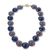 Murano Glass Blue Disc Necklace ~ Authentic Murano Italian Wearable Art!