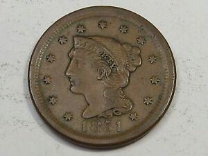 VF+ 1851 Large Cent. #17