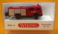 Wiking 096104 MAGIRUS DEUTZ pompiers LF 16 Scale 1 160 Nouveau neuf dans sa boîte N