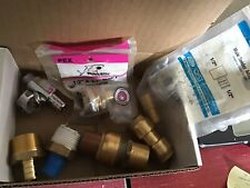Assorted Pex Pipe Fittings Lot Of 7 Fittings New And Used 7 Pex Parts