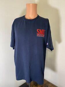 Vintage Champion SMU Mustangs men's Single stitch embroidered t-shirt sz XL USA