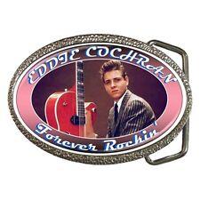 Eddie Cochran - Rockabilly - Forever Rockin' - Chrome/Enamel Belt Buckle