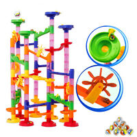 NEW 105pcs Plastic Marble Maze Run Race Set Railway Building Blocks Construction