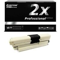 2x Eurotone Pro Cartridge Black for Oki C-530-DN C-310-DN MC-562-DN C-511-DN