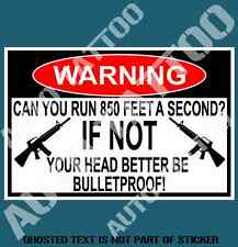 CAN YOU RUN WARNING DECAL STICKER FUNNY HUMOR NOVELTY DECALS STICKERS 120mm