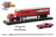 M2 Machines Auto Hauler 29 1970 Ford C-600 - Red and Black and 1968 Ford Mustang