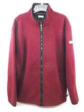 IZOD PERFORM X Full Zip  FLEECE Jacket Wine Color Mens XL