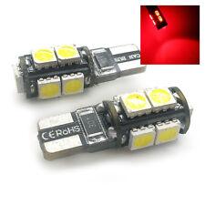 2x Red 9 SMD LED Side Light W5W T10 501 Fits Alfa Romeo 147 159 Brera RTSL1017R