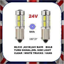 Lot de 2 NEUF Clair DEL Côté Queue Lumière Voiture Bulb-H21W 24 V 21 W-socket - > BA9S
