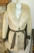 Stunning Oleg Cassini Natural Blonde  Designer Mink and Fox Vintage Coat Jacket