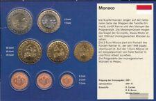 Mónaco 2002 flor de cuño Kurzsatz: 10 céntimo hasta 2 Euro flor de cuño