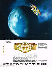 PUBLICITE ADVERTISING 075  1970  ETERNA-MATIC  3000  collection montre  DATO