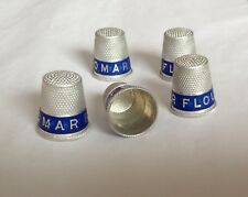 1920s lot of 5 Omar Flour Co. Advertising Thimbles