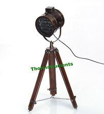 BEAUTIFUL NAUTICAL SEARCHLIGHT STUDIO SPOT LIGHT FLOOR LAMP TRIPOD HOME DECOR