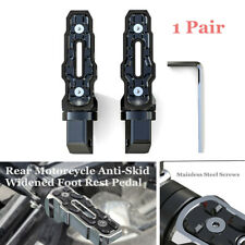 Pair Rear Motorcycle Anti-Skid Widened Foot Rest Pedal Accessory Cycling Comfort
