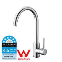 WELS 360°Wivel Spout Kitchen Laundry Basin Sink Mixer Tap Faucet Chrome Polished