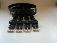 Coach built vintage pram real leather suspension straps in navy blue
