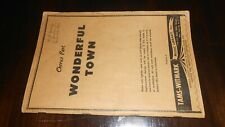 TAMS-WITMARK WONDERFUL TOWN 1953 BROADWAY MUSICAL