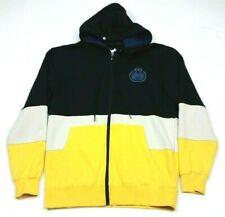 NOMIS Black Yellow Fleece Full Zip Hoodie Jacket Medium