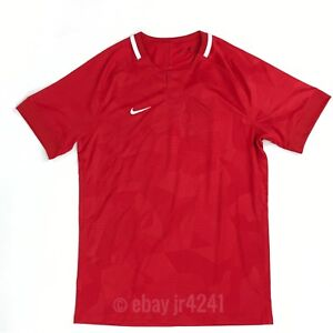 Nike Hybrid Crew Neck S/S Dry Soccer Jersey Futbol Youth Medium Red 894063
