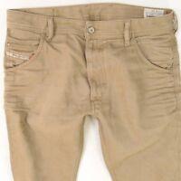 Mens Diesel KROOLEY 008QU Regular Slim Carrot Brown Jeans W32 L34