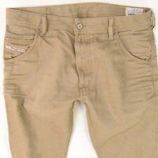 Da Uomo DIESEL Krooley 008QU REGULAR SLIM CARROT Marrone Jeans W32 L34