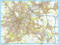 A - Z STREET MAP OF SHEFFIELD - FLAT MAP - SHEFFIELD STREET MAP.  PAPER MAP.