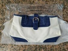AVON HAND BAG, TOTE BAG, WHITE & BLUE,  NEVER USED, NEW IN BAG.