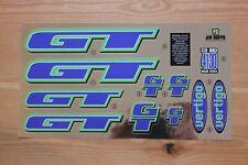 Reproduction 1997 GT Vertigo BMX Decal Set - Chrome Backing