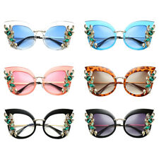 2018 Diamond Flower Cat Eye Sunglasses Gradient Sun Glasses for Women Lady