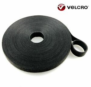 """BLACK 2.5CM (1"""") Wide VELCRO® Brand One-Wrap® Double Sided Strapping Cable Ties"""