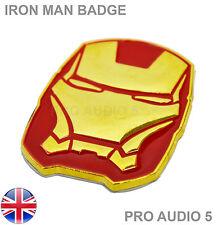 IRON MAN Red & Gold Car Badge VW Audi Ford Mazda Fiat M Skoda Van Truck Badge UK