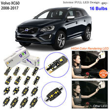 16 Bulbs Deluxe LED Interior Light Kit Xenon White Lamp For 2008-2017 Volvo XC60