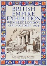 British Empire Exhibition, Wembley, London, 1924, English Travel Poster