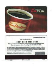 Tim Hortons RARE 2007 ( FIRST EVER USA GIFT CARD ) Coffee Cup Gift Card VL4414U