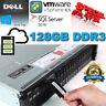Dell PowerEdge R720 Xeon E5-2670 2.60GHz 128GB DDR3 4x300Gb 10K H710 Mini 512mb