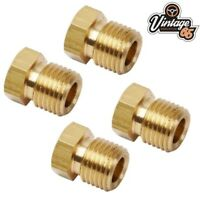 Citroen 2CV DS HY Van 6.35mm Brass Brake Pipe Fitting Union For Hydraulic Lines