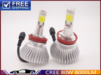 H1 H4 H7 H11 9005 Car Bulbs CREE LED Conversion Kit Light 80W 8000LM White 6000K