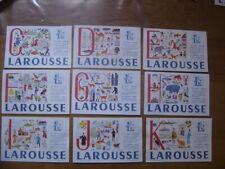 lot de 9 Buvards Blotting paper LAROUSSE lettre C,D,E,F,G,H,I,J,K