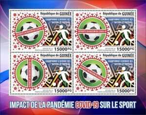 Guinea - 2021 Pandemic and Sports, Soccer - 4 Stamp Sheet - GU210154c4